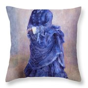 La Parisienne The Blue Lady  Throw Pillow