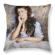 La Pensee My Reproduction Of Renoirs Work Throw Pillow