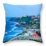 La Perla In Old San Juan Throw Pillow