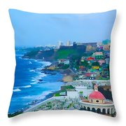 La Perla In Old San Juan Throw Pillow