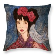 La Petite Et La Colombe  Throw Pillow