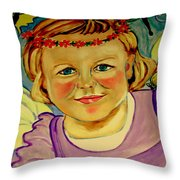 La Petite Fee   The Little Fairy Throw Pillow