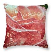 La Petite Rose Throw Pillow