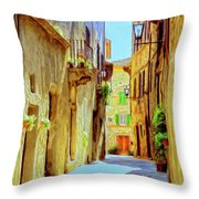La Piccola Strada Throw Pillow