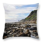 La Piedra Shore Malibu Dusk Throw Pillow