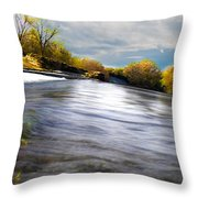 La Piste De L'eau Throw Pillow