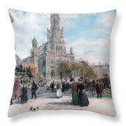 La Place De Trinite Throw Pillow