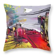 La Place Rouge Espagnole Throw Pillow