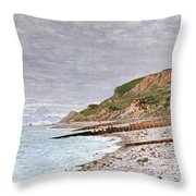 La Pointe De La Heve Throw Pillow