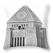 La Public Library Tower Mosaic Throw Pillow