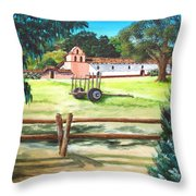 La Purisima With Fence Throw Pillow