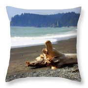 La Push Beach  Throw Pillow
