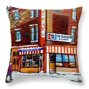 La Quebecoise Restaurant Montreal Throw Pillow