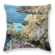 La Quebrada Throw Pillow