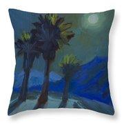 La Quinta Cove And Moonlight Throw Pillow