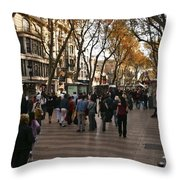La Rambla II Throw Pillow