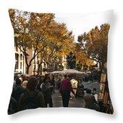 La Rambla IIi Throw Pillow