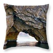 La Roca Foradada - Of L'estartit Throw Pillow