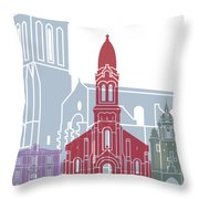 La Rochelle Skyline Poster Throw Pillow