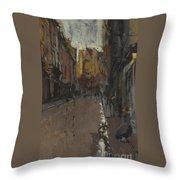 La Rue St Jacques Dieppe Throw Pillow