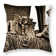 La Sagrada Familia Sculpture Throw Pillow