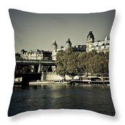 La Seine I Throw Pillow