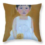 La Senorita And The Sunflower Throw Pillow