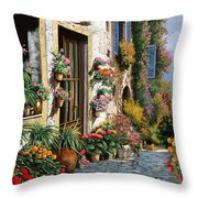 La Strada Del Lago Throw Pillow