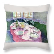 La Table De Fernande Throw Pillow