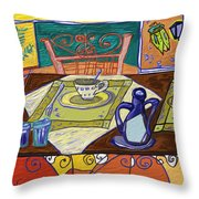 La Taula Throw Pillow