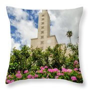 La Temple Pink Throw Pillow