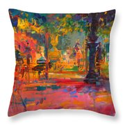 La Terrasse Du Jardin Throw Pillow
