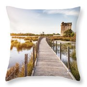 La Tour Carbonniere - Camargue - France Throw Pillow
