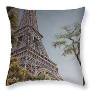 La Tour Eiffel 2 Throw Pillow