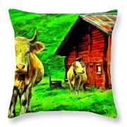 La Vaca Throw Pillow