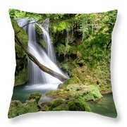 La Vaioaga Waterfall Throw Pillow