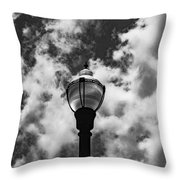 Lamp In The Clouds Throw Pillow