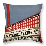 Labor Poster, 1935 Throw Pillow