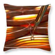 Laboratory Petri Dishes In Science Research Lab Throw Pillow