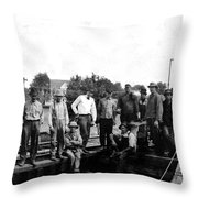 Laborers 1920s  Throw Pillow