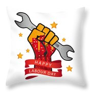 Labour Day  Throw Pillow
