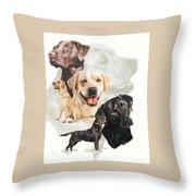 Labrador Retriever W/ghost Throw Pillow