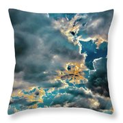 Labradorite Rain Throw Pillow