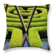 Labyrinth At The Getty Throw Pillow