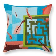 Labyrinth Day Throw Pillow