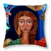 Labyrinth Of Memoirs Throw Pillow