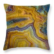 Lace Agate Stone 4 Throw Pillow