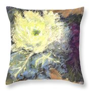 Lace Curtin Cabbage Throw Pillow
