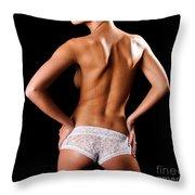 Lace Panties Throw Pillow by Jt PhotoDesign
