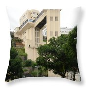 Lacerda Elevator In Salvador Bahia Throw Pillow